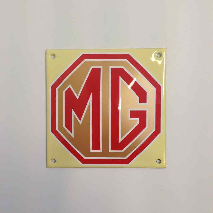 Plaque émaillée MG 12 x 12 cm