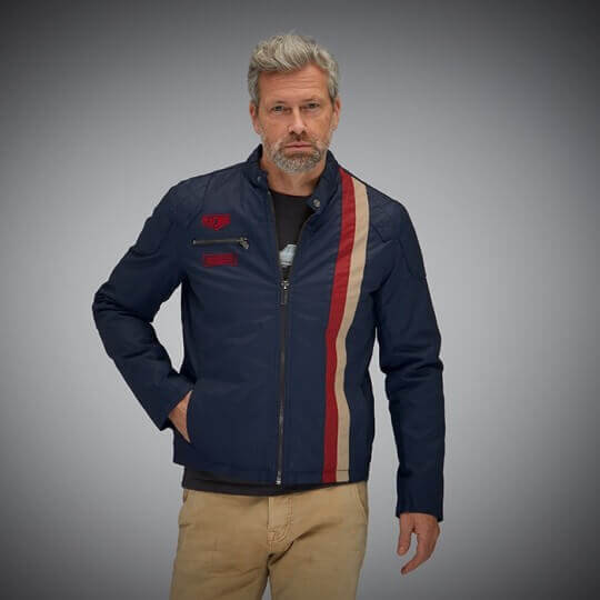 BLOUSON GRANDPRIX ORIGINALS RACING - NAVY BLUE