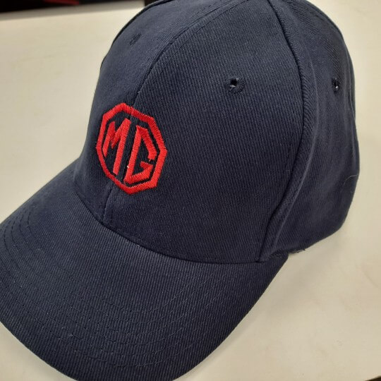Casquette MG Heavy Coton Navy blue - logo ROUGE