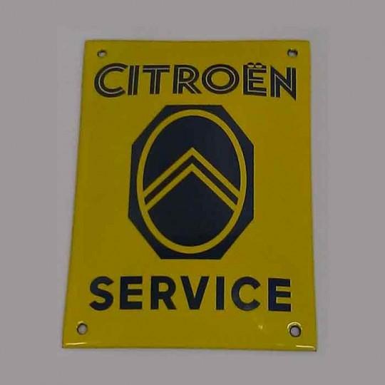 Plaque émaillée Citroën Service 10 x 14 cm