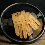 DRIVING GLOVES - PECARI - TOBACCO