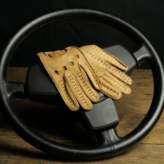 DRIVING GLOVES WOMAN PECARI TOBACCO