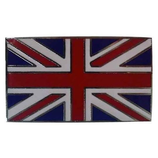 Plaque émaillée drapeau Union Jack 5 x 3 cm, a coller