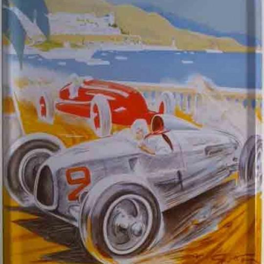 Plaque métal Grand Prix de Monaco 1936 30 x 40 cm