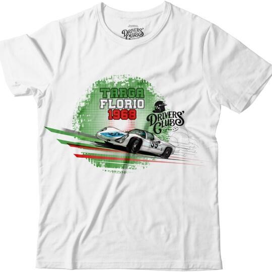 T-Shirt Driver's Club Blanc Targa Florio