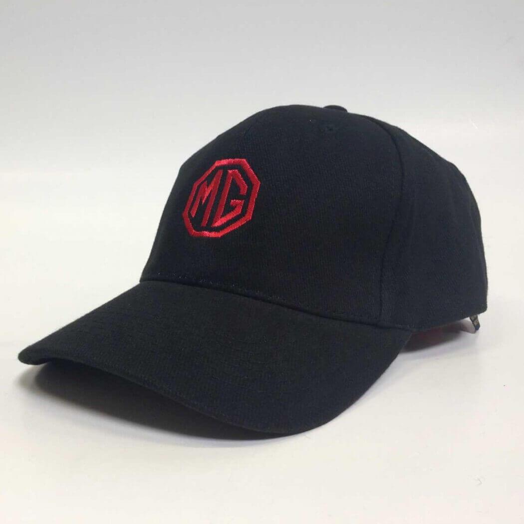 MG Cap Black Logo Red