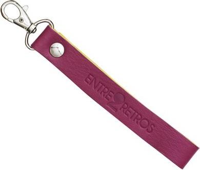 Porte clé Cuir couleur Violet