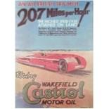 Affiche Castrol 207 mph de 1927