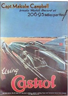 Castrol 206.95 mph poster from 1928