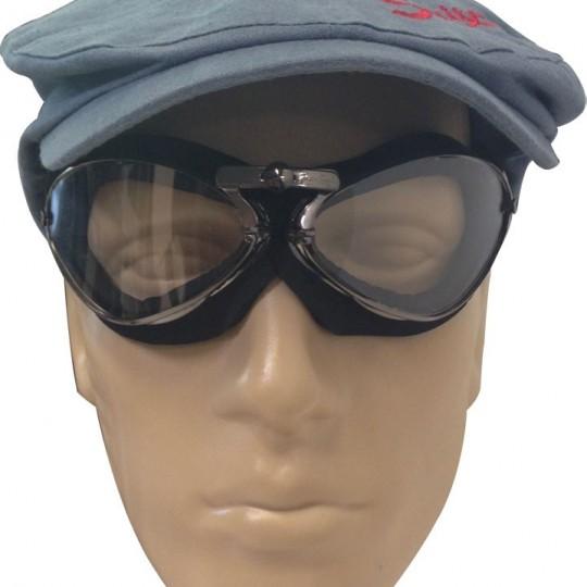 Lunette Aviator Goggle rétro noir cadre mousse