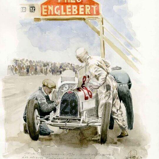 Bugatti 35C , GP of Czechoslovakia 1930, Masaryk, Brno