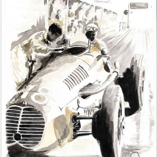 Luigi Villoresi, British GP 1948, Maserati