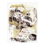 "\\""Silver arrows and mechanics\\"", Mercedes W196 Reims 1954"