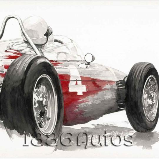 Ferrai 156 Dino, W. Von Trips, Britsh GP Aintree 1961
