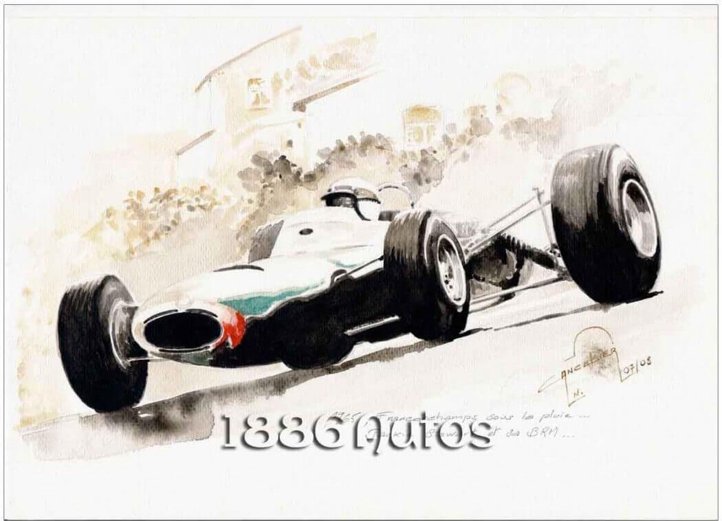 B.R.M. P261, Jackie Stewart, Spa 1965