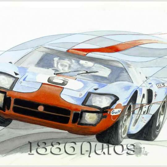 Ford GT40, Jacky Ickx/Jackie Oliver, Le Mans 1969