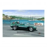 Stirling Moss Monaco 1957 in the Vanwall