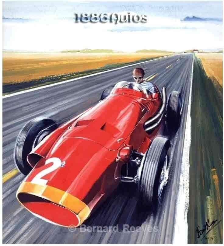 Fangio in the Maserati at Reims