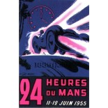 Affiche 24 heures du Mans 1955