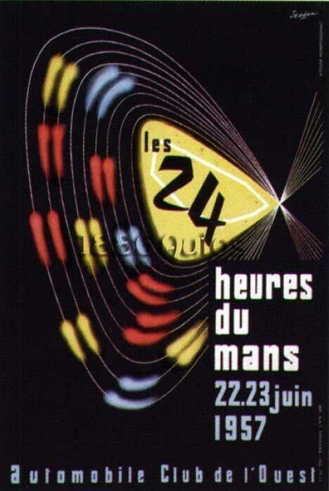 Affiche 24 heures du Mans 1957