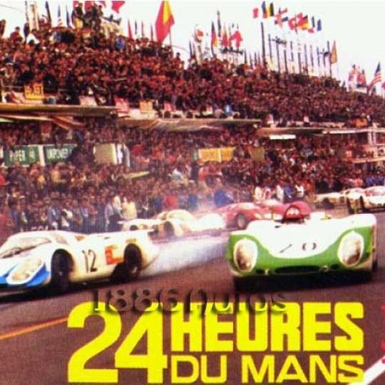 Affiche 24 heures du Mans 1970