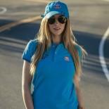 Polo GULF Retro turquoise Femme