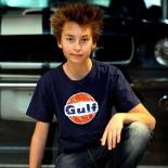 T-shirt Kid Vintage Gulf Indigo