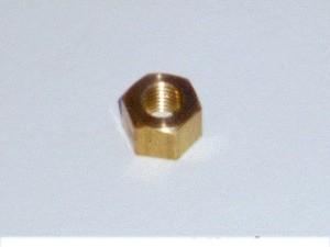 Ecrou court en laiton de fixation du tube avant au collecteur pour Austin healey BN1-BJ8