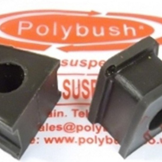Kit de 2 silentblocs en polyuréthane avec fixation, pour fixer la barre anti rouli