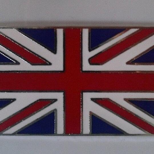 Plaque émaillée drapeau Union Jack 5 x 3 cm