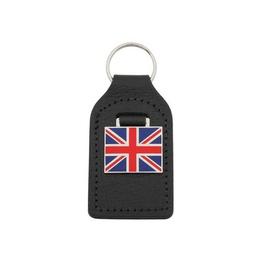 Union Jack leather key ring