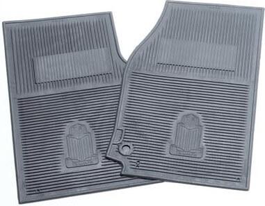 Triumph logo rubber floor mats