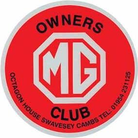 Sticker CLUB MG