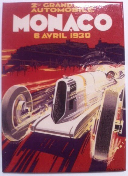 Magnet Grand Prix de Monaco 1930 par Falcucci