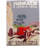 Magnet Grand Prix de Monaco 1934 par Géo Ham