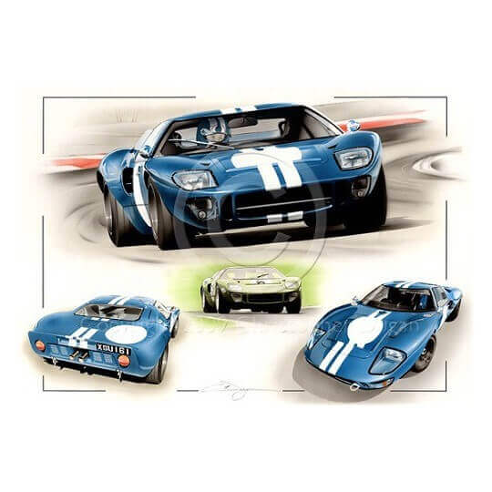 Ford GT40 Blue