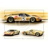 The stunning Gold coloured Holman/Moody GT40 - Ford 5
