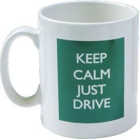 "Mug MG vert \\""Keep Calm Just Drive\\"""