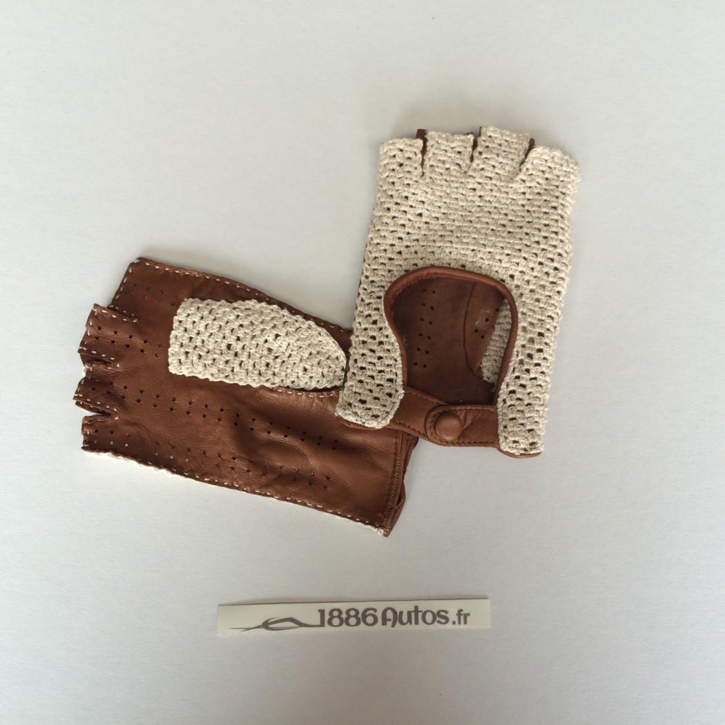 Mitaines de conduite Femme Crochet marron - ACABA