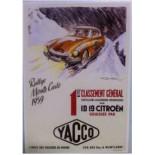 Affiche Rallye Monte Carlo 1959 - 1er classement général - Par GeoHam