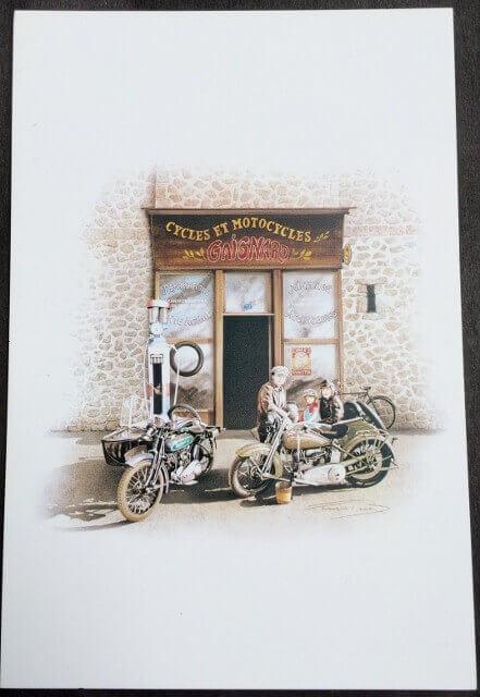 Postcard OLD GARAGE - François BRUERE