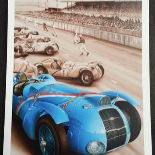 Carte postale Delahaye - Le Mans 1938