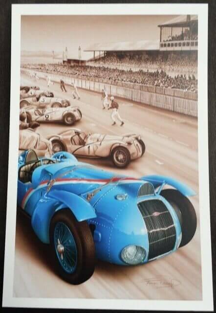 Delahaye postcard - Le Mans 1938
