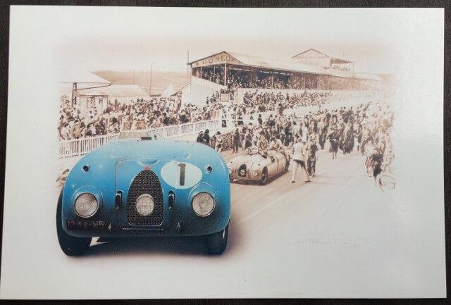 Postcard Bugatti 57 G - LE MANS 1969