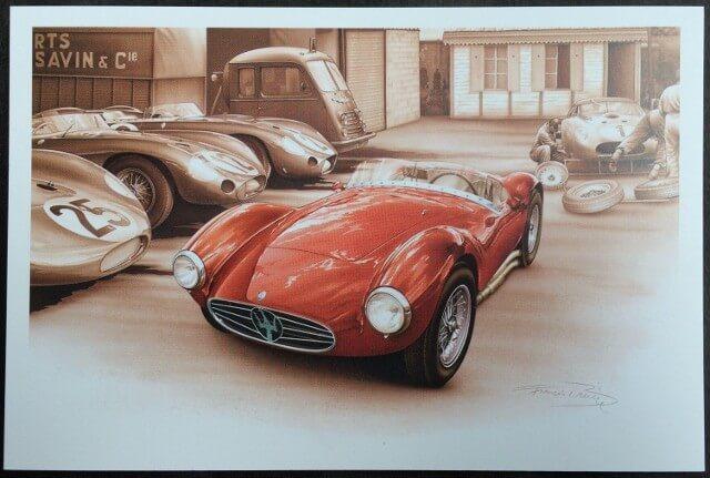 Carte postale Maserati - LE MANS 1957