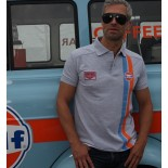 Polo Gulf Stripe Gris
