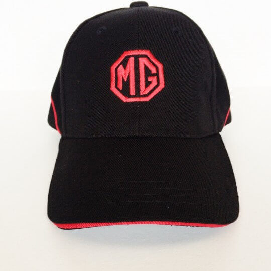 MG cap black with red stripe