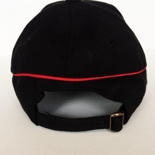 Casquette MG noir bande rouge