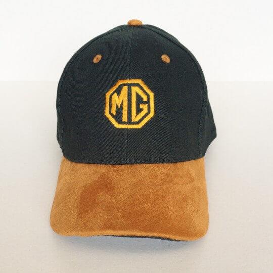 MG cap, dark green, camel suede peak