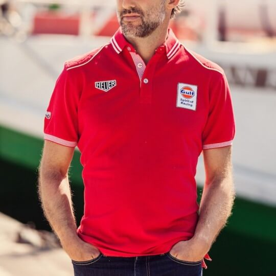 Gulf United Polo red